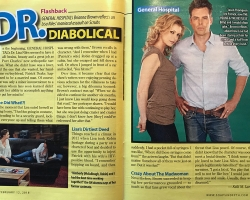 In ABC Soaps In Depth Brianna Brown is featured and recalling her diabolic role as Dr. Lisa Niles.